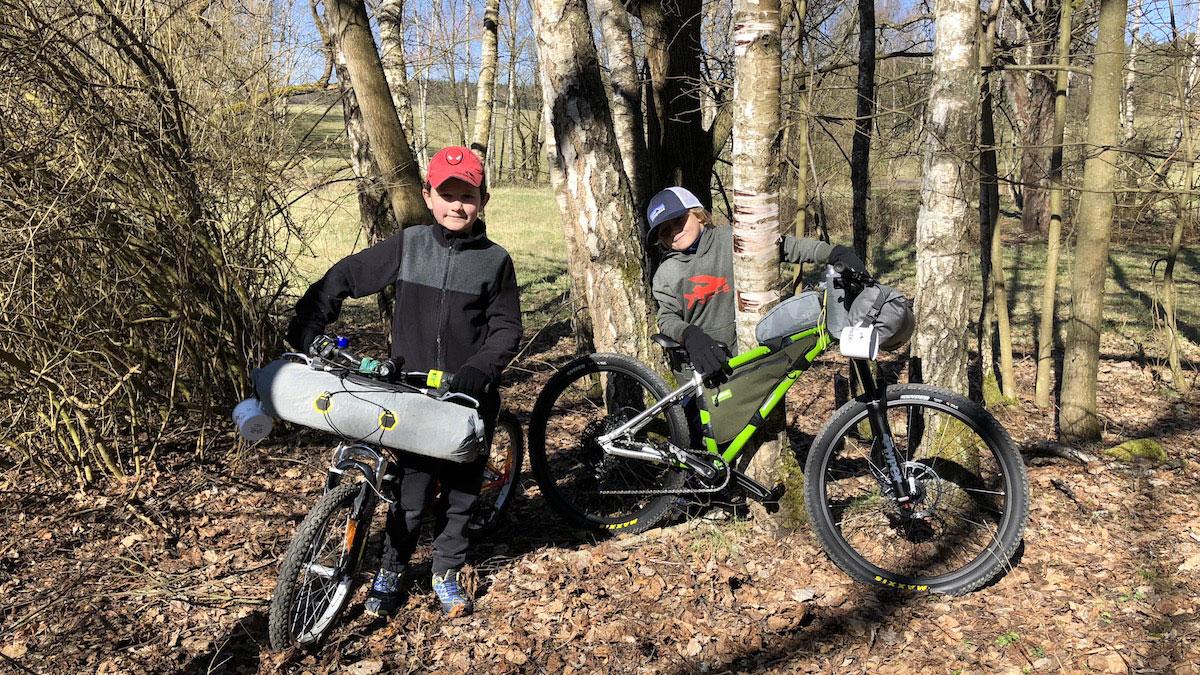 Děti a bikepacking